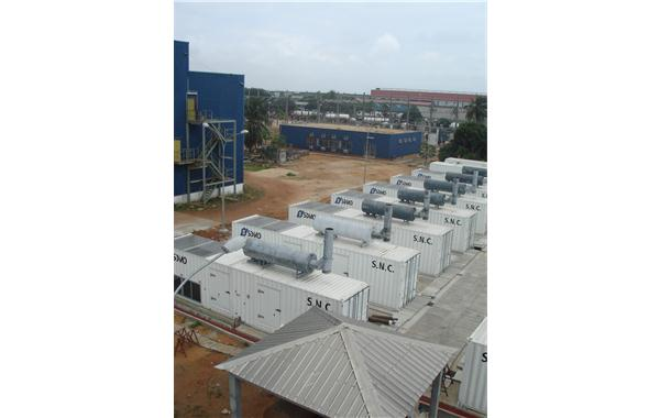 Special power generating sets in containers