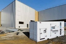 Rental generating sets in container