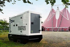 Rental and soundproofed generating sets for events