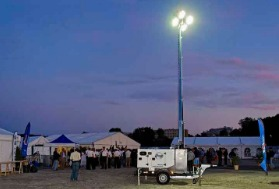 Mobile rental lighting towers